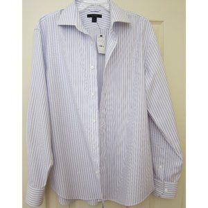 Express - Dress Shirt - Purple/White - Large
